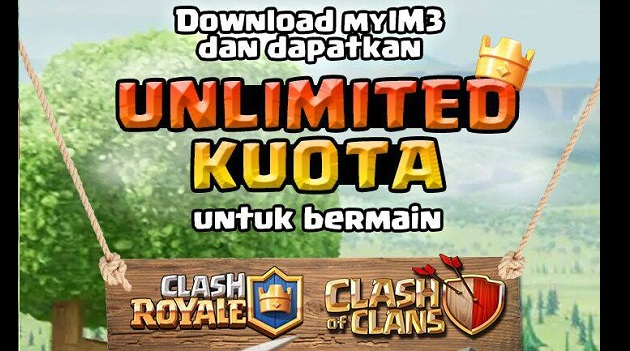 Kuota Gratis Main Clash of Clan dan Clash Royal dari Ayoslide dan MyIM3