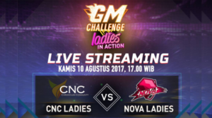 Dua Team Ladies dari CNC dan Nova Siap meramaikan GM Challenge AoV