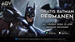 Garena AOV Rilis Batman, Super Hero dari Gotham City, GRATIS!