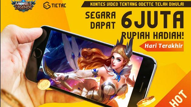 TIC TAC Umumkan Pemenang Kontes Video Odette dari Mobile Legends Total 6 Juta Rupiah