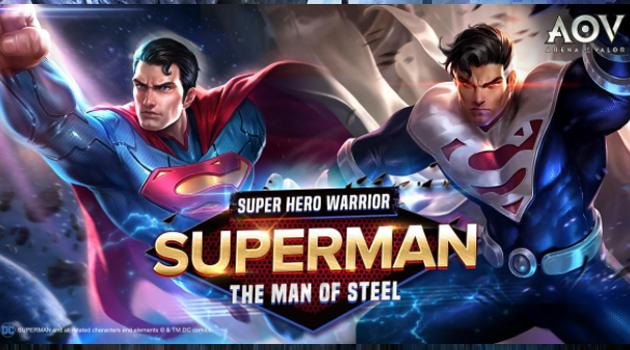 Superman Resmi Hadir di Garena AOV dengan Enam Jenis Skill Berbeda