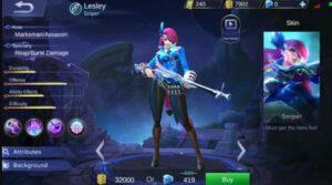 Lesley The Sniper, Marksman Jago Kill Musuh Dari Jauh di Mobile Legends