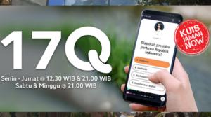 Kuis Zaman Now bagi bagi Jutaan rupiah dari aplikasi live streaming 17Q