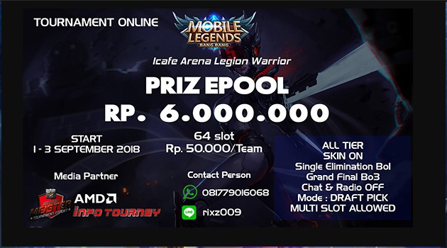[Turnamen] Mobile Legends – Icafe Arena Legion Warrior