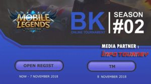 Info Tournament Online Mobile Legends BK ONLINE SEASON 2