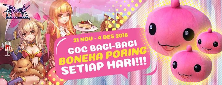 Gratis Boneka Poring Setiap Hari di Ragnarok M bareng GOC