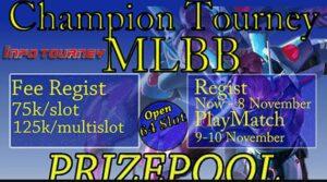 Info Tournament Mobile Legends Champion Tourney Digelar Online
