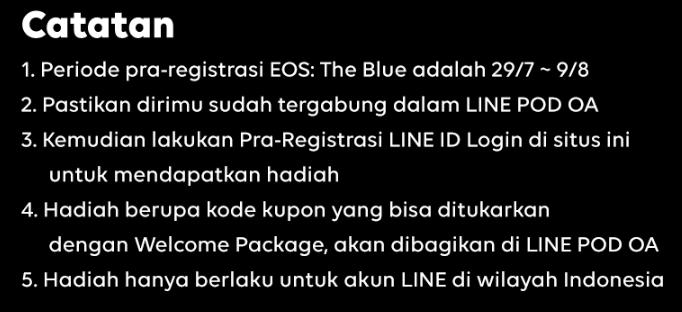 Pra-Registrasi game EOS Dengan Akun Line Login Sekarang - Otaku Mobileague